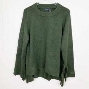 Zara | Knit Tie Sleeve Sweater Oversized Green